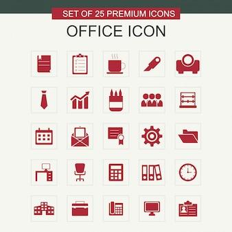 Zestaw ikon biurowych