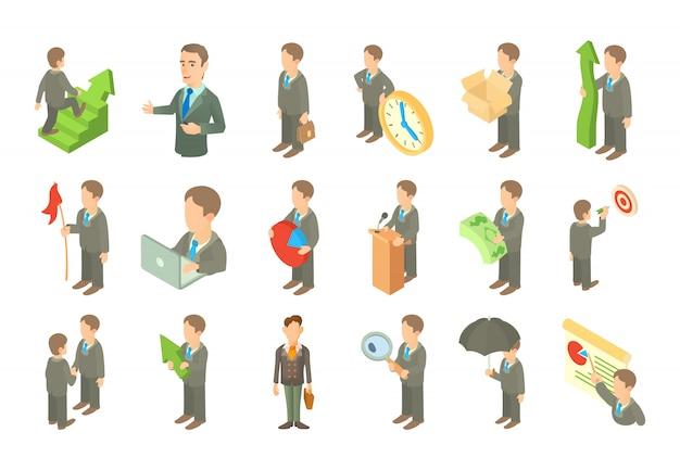 Zestaw ikon biznesmen