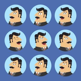 Zestaw ikon biznesowych akcjonariuszy