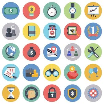 Zestaw ikon biznesowych dla stron internetowych i aplikacji mobilnych