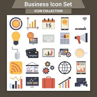 Zestaw ikon biznesowych.