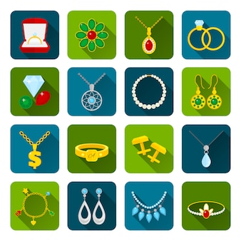 Zestaw ikon biżuterii