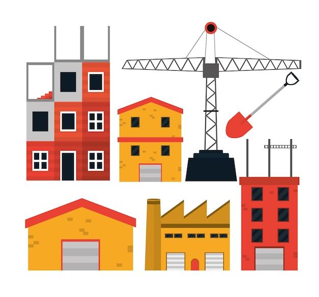 Zestaw ikon budowy