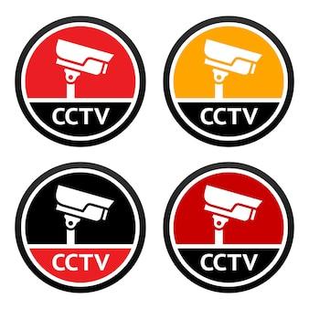 Zestaw ikon cctv znak