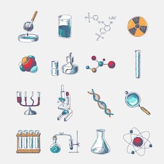 Zestaw ikon chemii