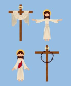 Zestaw ikon chrześcijaństwa