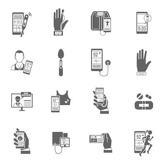 Zestaw ikon cyfrowych zdrowia