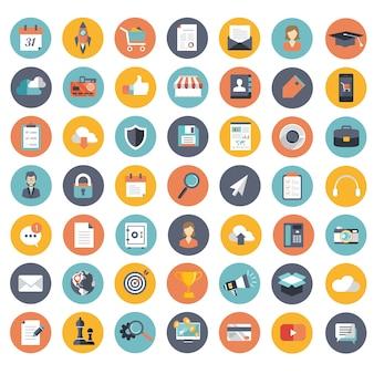 Zestaw ikon dla aplikacji internetowych i mobilnych