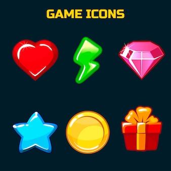 Zestaw ikon dla interfejsu użytkownika gry