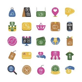 Zestaw ikon dla małych firm