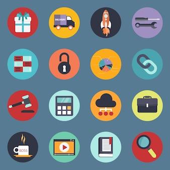Zestaw ikon dla stron internetowych i aplikacji mobilnych