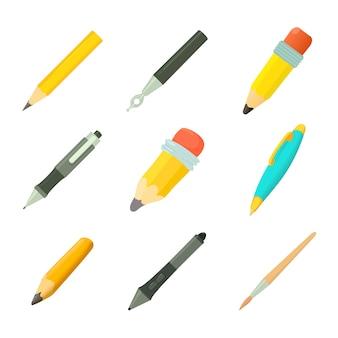 Zestaw ikon długopisów
