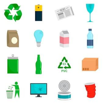 Zestaw ikon dnia recyklingu