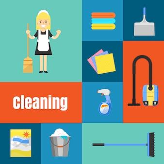 Zestaw ikon do czyszczenia