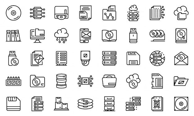 Zestaw ikon do przechowywania