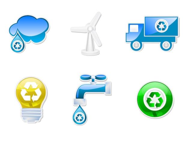 Zestaw ikon do recyklingu