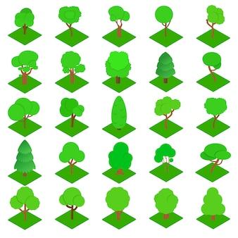 Zestaw ikon drewna