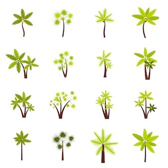 Zestaw ikon drzewa