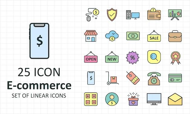 Zestaw ikon e commerce