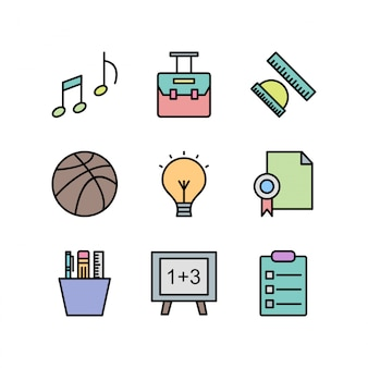 Zestaw ikon edukacji