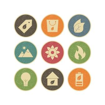 Zestaw ikon eko do użytku osobistego i komercyjnego