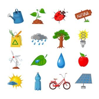 Zestaw ikon ekologiczne