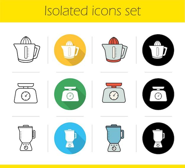 Zestaw ikon elektroniki kuchennej