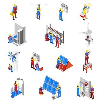Zestaw ikon elektryk