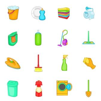 Zestaw ikon elementów gospodarstwa domowego