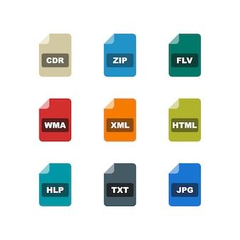 Zestaw ikon formatów plików
