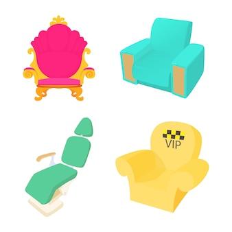 Zestaw ikon fotela