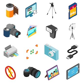Zestaw ikon fotografii