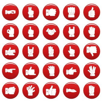 Zestaw ikon gestów