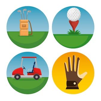 Zestaw ikon golfa