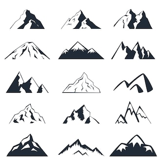 Zestaw ikon górskich