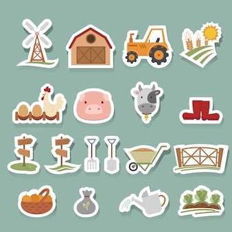 Zestaw ikon gospodarstwa