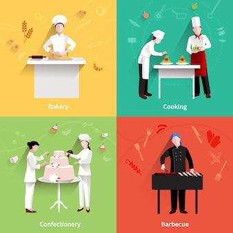Zestaw ikon gotowania