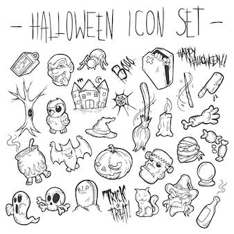 Zestaw ikon halloween