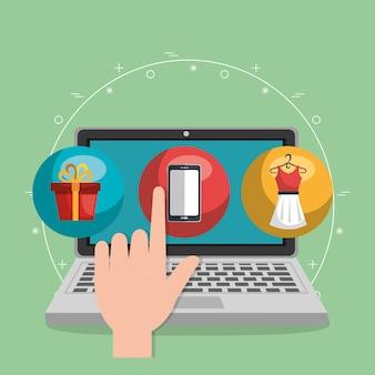 Zestaw ikon handlu elektronicznego