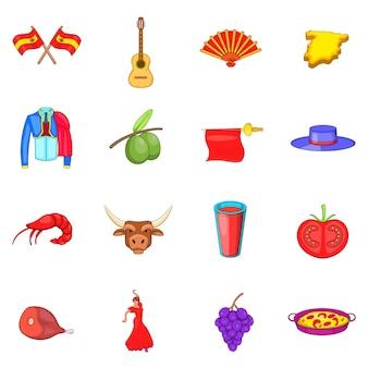 Zestaw ikon hiszpanii