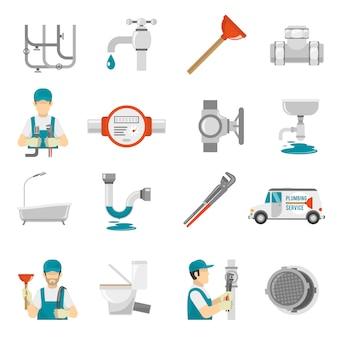 Zestaw ikon hydrauliczne