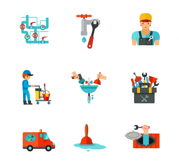 Zestaw ikon hydraulika