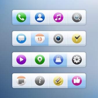Zestaw ikon. ilustracja. .