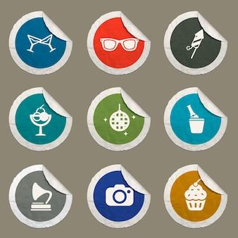Zestaw ikon imprezowych dla stron internetowych i interfejsu użytkownika
