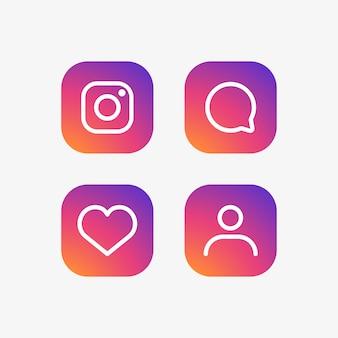 Zestaw ikon instagram