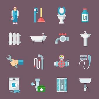 Zestaw ikon instalacyjnych