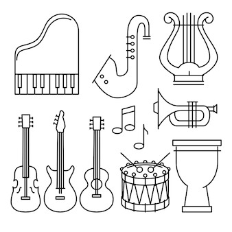 Zestaw ikon instrumentów tropikalnych