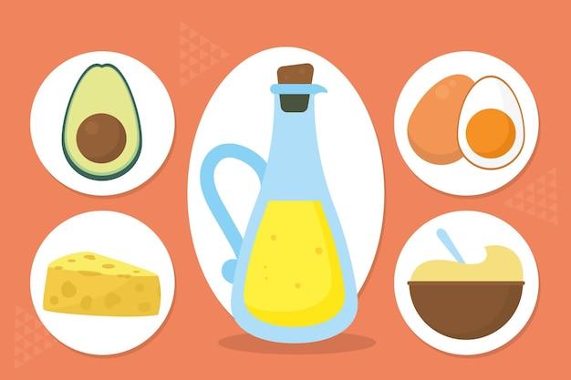 Zestaw ikon jedzenia