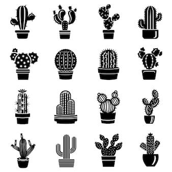 Zestaw ikon kaktusa