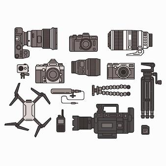 Zestaw ikon kamery